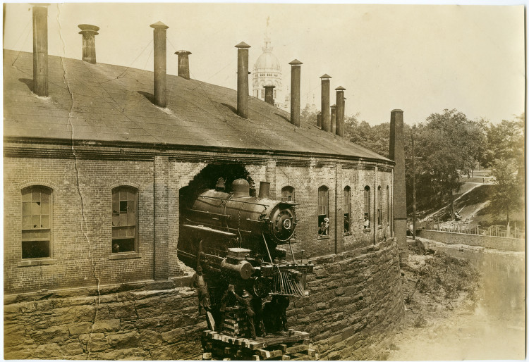 New Haven roundhouse wreck