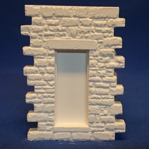 Wet Stacked Interlocking wall module with door opening